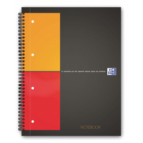 Cahier A4 spirale OXFORD 160 pages - carreaux 5x5mm - 230x297mm