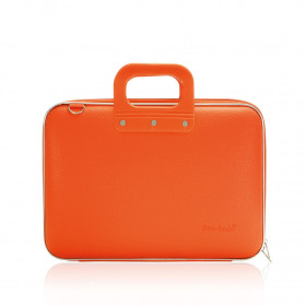 "Mallette PC Portable 13"" BOMBATA MEDIO CLASSIC vinyle ORANGE - 38x29x7cm"