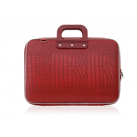 "Mallette PC Portable 15"" BOMBATA COCO vinyle ROUGE - 43x33x7cm"