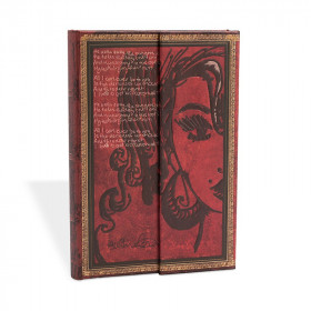 Carnet Mini PAPERBLANKS série Les Manuscrits Estampés modèle Amy Winehouse, Tears Dry
