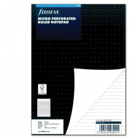 Recharge FILOFAX A5 - Bloc notes perforé - Blanc