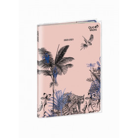 Agenda QUOVADIS Note 21 15x21cm Jungle spirit - 1 semaine sur 1 page Horizontal+NOTE - Poetique